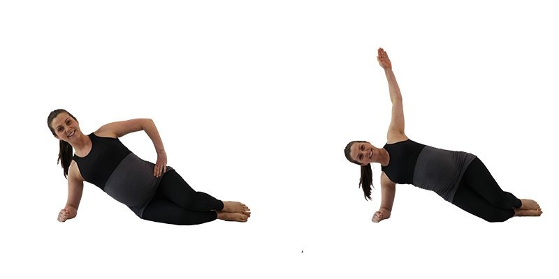 Prenatal Pilates Workout Online 1 03. Side plank pregnancy exercise