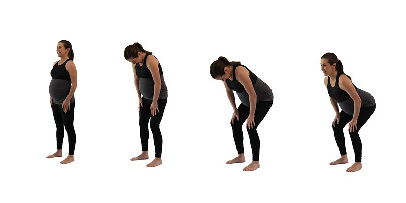 Pregnancy Exercise stand up and curl